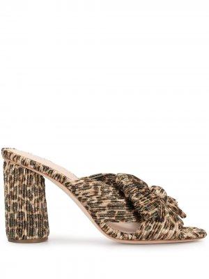 Мюли Penny с леопардовым узором Loeffler Randall. Цвет: коричневый