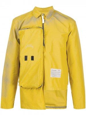 Куртка с длинными рукавами и карманом A-COLD-WALL*. Цвет: желтый