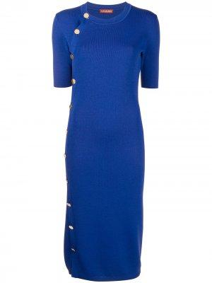 Платье миди Minamoto Altuzarra. Цвет: синий