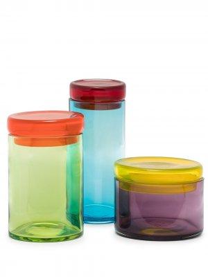 Набор банок для хранения pols potten. Цвет: оранжевый