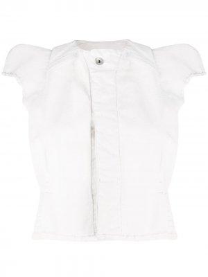 Укороченная куртка с короткими рукавами Rick Owens DRKSHDW. Цвет: белый