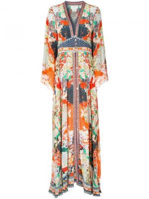 Платье макси Gueisha Girl Camilla. Цвет: разноцветный
