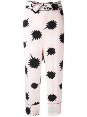 Пижамные брюки с завязкой на бант Diesel. Цвет: розовый