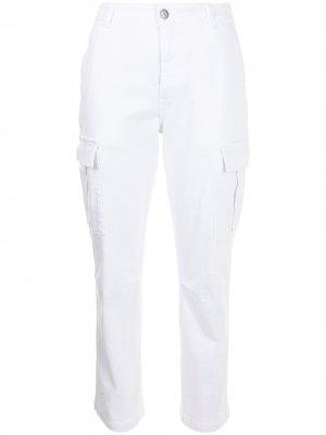 Укороченные брюки с завышенной талией P.A.R.O.S.H.. Цвет: белый