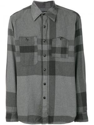Рубашка с клетчатым рисунком Engineered Garments. Цвет: серый