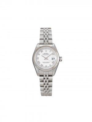 Наручные часы Lady-Datejust pre-owned 26 мм 2000-х годов Rolex. Цвет: белый