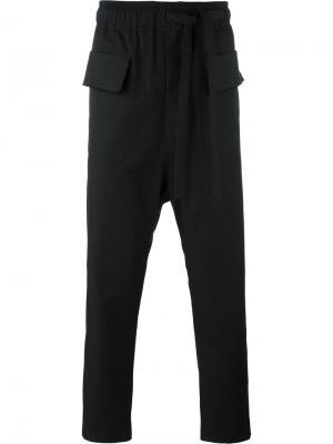 Укороченные брюки с заниженной проймой Damir Doma. Цвет: черный