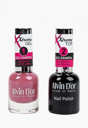 Набор лаков для ногтей Alvin Dor D'or. Цвет: прозрачный