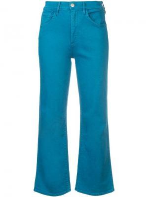 Укороченные прямые джинсы 3x1. Цвет: синий