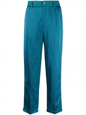 Укороченные брюки прямого кроя Forte. Цвет: синий