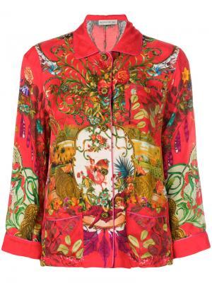 Пижамная рубашка Circus с принтом Etro. Цвет: красный