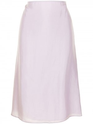 Юбка с завышенной талией Nina Ricci. Цвет: фиолетовый