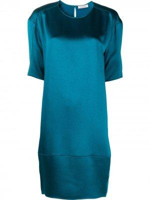 Платье мини с круглым вырезом Nina Ricci. Цвет: синий