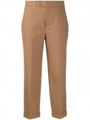 Укороченные брюки строгого кроя TWINSET. Цвет: нейтральные цвета