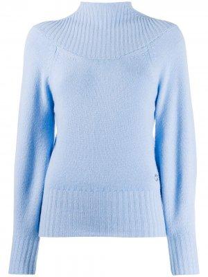 Кашемировый свитер с высоким воротником Emilio Pucci. Цвет: синий