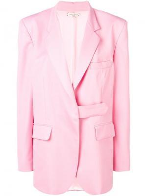 Блейзер в стиле оверсайз Natasha Zinko. Цвет: розовый