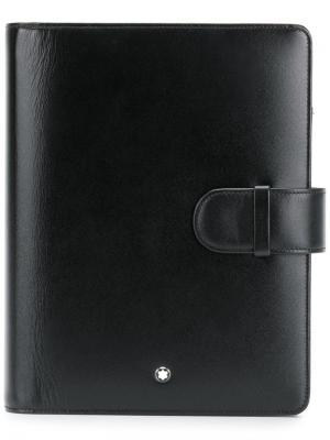 Органайзер среднего размера на кнопке Meisterstück Montblanc. Цвет: черный