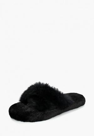 Тапочки Vivian Royal. Цвет: черный