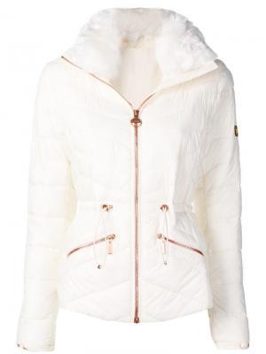 Стеганая куртка Barbour. Цвет: белый