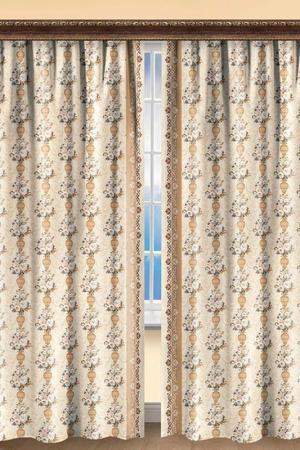 Комплект штор 270х200 2 шт. BegAl. Цвет: бежевый