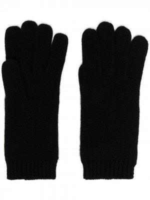 Перчатки с манжетами в рубчик Aspesi. Цвет: черный