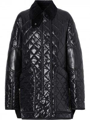 Стеганая куртка Barn Burberry. Цвет: черный