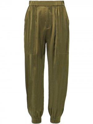 Зауженные брюки Neha Nicholas. Цвет: зеленый