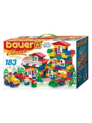 Конструктор Bauer серии Сlassic 183 эл. (в коробке) 16/16. Цвет: голубой