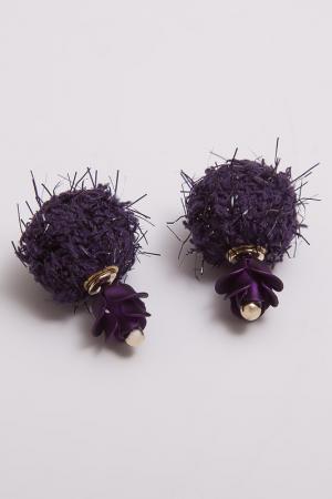 Серьги Asavi Jewel. Цвет: фиолетовый