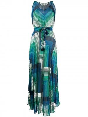 Платье с геометричным принтом TWINSET. Цвет: синий