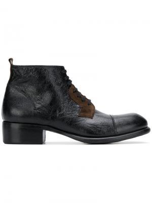 Ботинки по щиколотку со шнуровкой Rocco P.. Цвет: черный