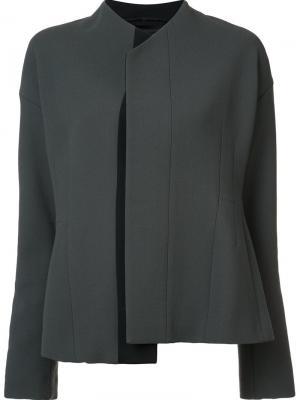 Пиджак с потайной застежкой Narciso Rodriguez. Цвет: серый