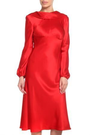 Платье Alexander McQueen. Цвет: красный