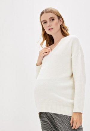 Пуловер Pietro Brunelli Maternity. Цвет: белый