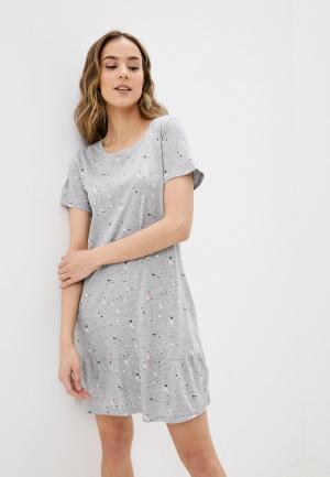 Сорочка ночная Marks & Spencer. Цвет: серый