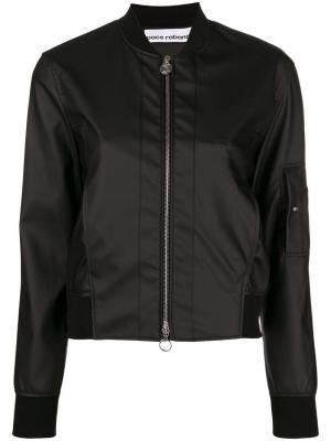 Классическая куртка-бомбер Paco Rabanne. Цвет: черный
