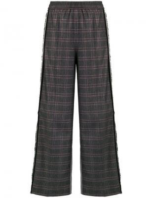 Check wide leg trousers 8pm. Цвет: черный