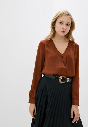 Блуза Vero Moda. Цвет: коричневый