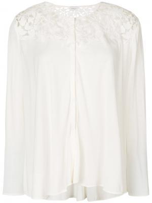 Блузка с кружевными вставками Giambattista Valli. Цвет: белый