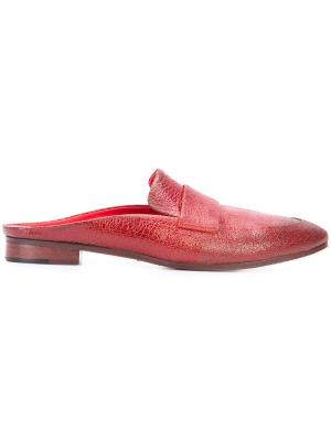 Мюли с миндалевидным носком Marsèll. Цвет: красный