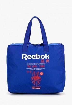 Сумка дорожная Reebok Classic. Цвет: синий