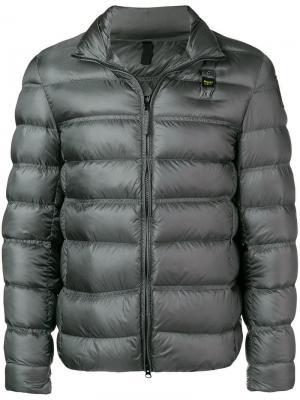 Укороченная пуховая куртка Blauer. Цвет: серый