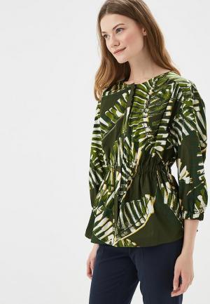 Блуза Marks & Spencer. Цвет: зеленый