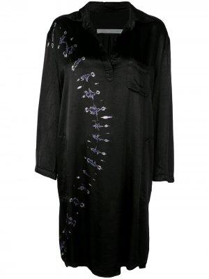 Платье свободного кроя с принтом тай-дай Raquel Allegra. Цвет: черный