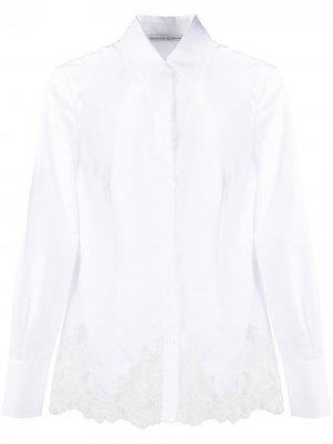 Рубашка с кружевными вставками Ermanno Scervino. Цвет: белый