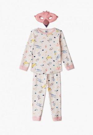 Пижама Petit Bateau. Цвет: розовый