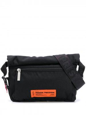 Поясная сумка с нашивкой-логотипом Heron Preston. Цвет: черный