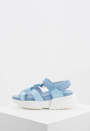 Сандалии MM6 Maison Margiela. Цвет: голубой