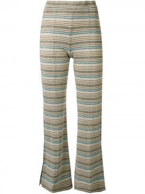 Укороченные брюки Melanie в полоску Stine Goya. Цвет: разноцветный