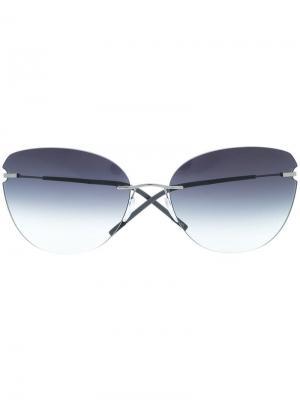 Солнцезащитные очки в оправе кошачий глаз Silhouette. Цвет: черный
